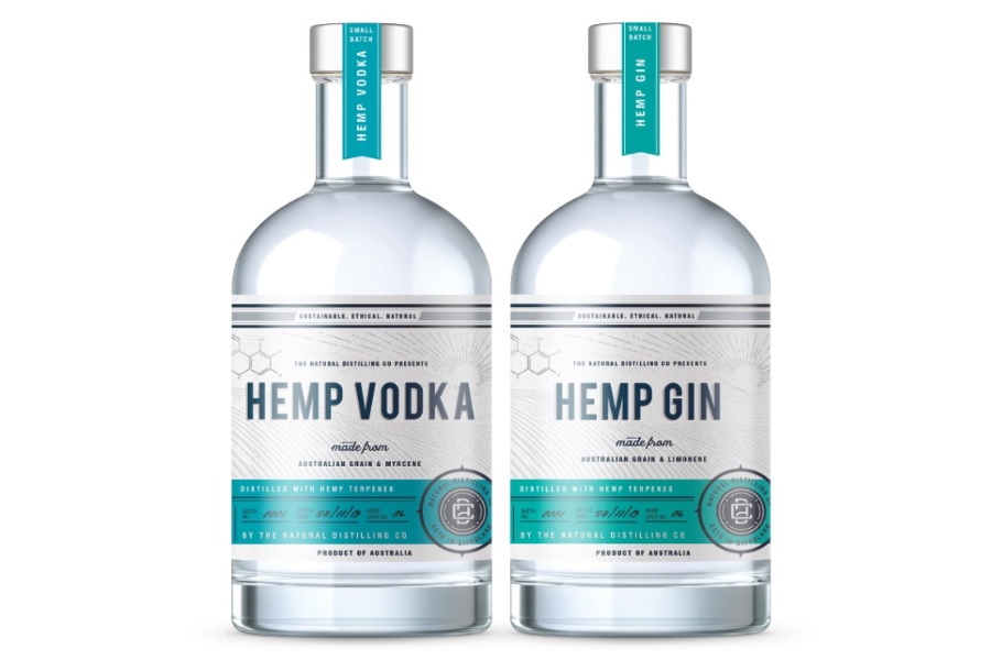 hemp gin and hemp vodka