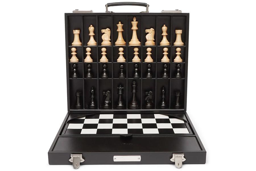 Asprey Hanover Leather Chess case