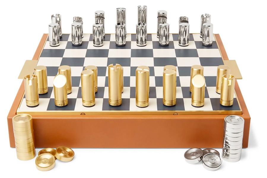 Luxury Lover - ralph lauren home fowler leather chess set