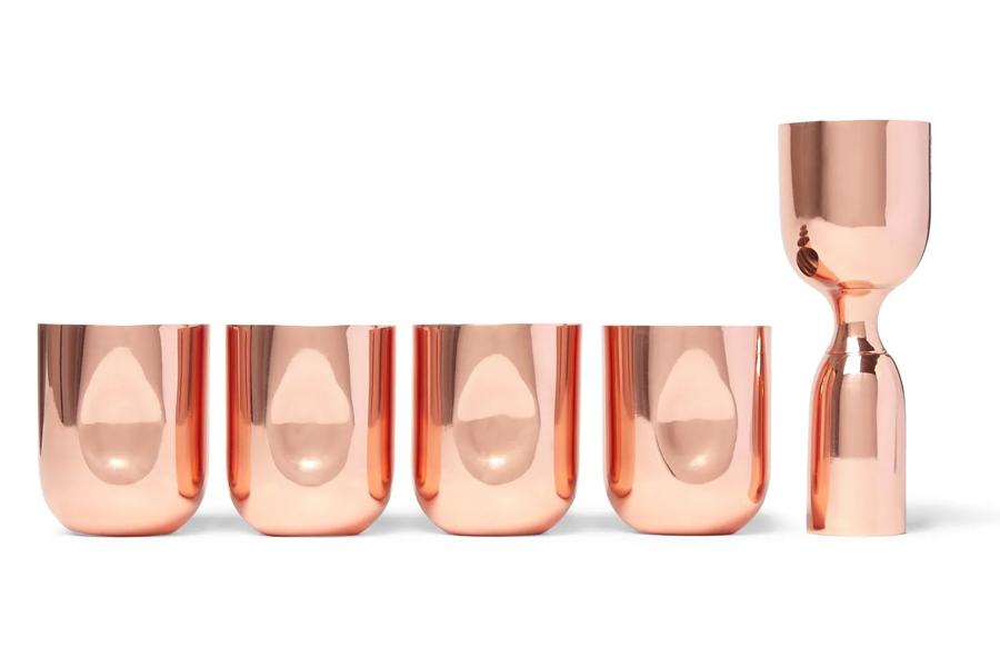 Copper Plum Four Copper Shot Glasses