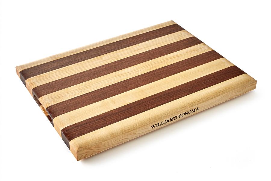 William Sonoma striped Cutting Board