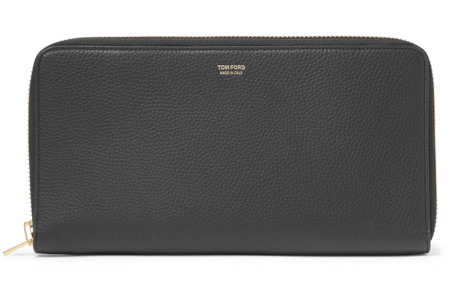 Tom Ford Full-Gain Leather Watch Case