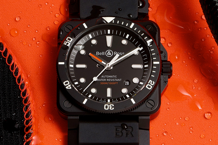 Dial of Bell & Ross BR 03-92 Diver watch