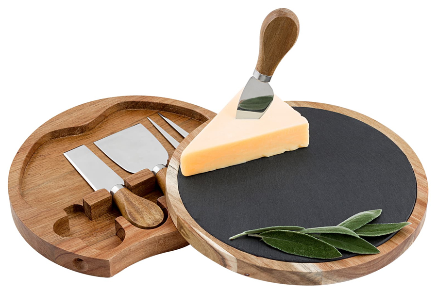 Monogram 5-piece Cheese Board and Utensil Set