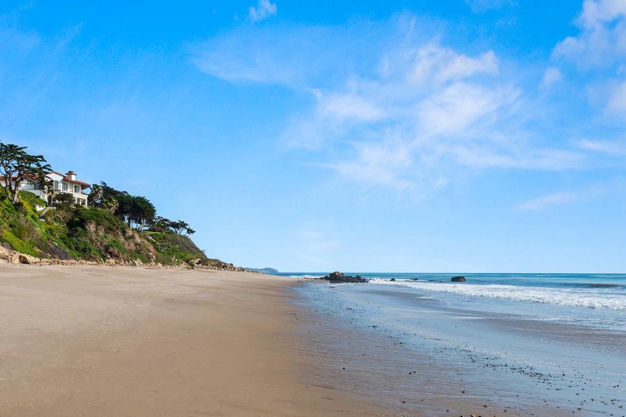$65 Million Malibu Home beach view