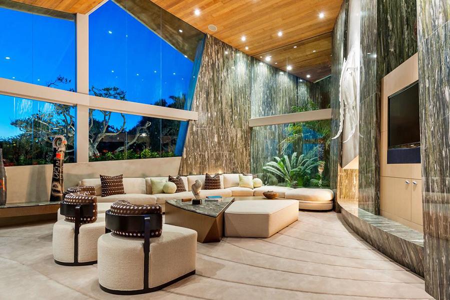 $65 Million Malibu Home lounge area