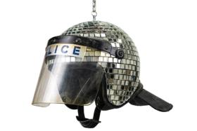 Banksy's Met Ball Discoball Helmet