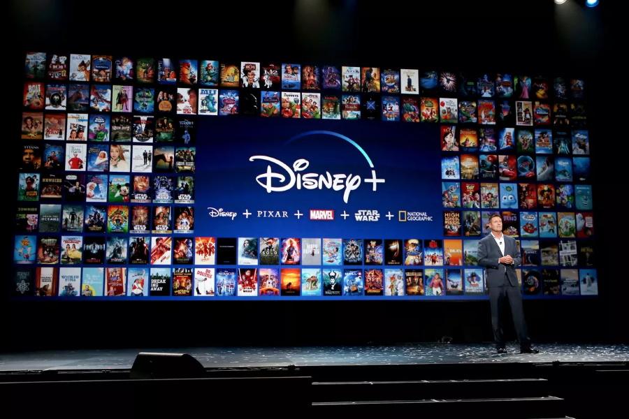 Disney+ homepage on large screen