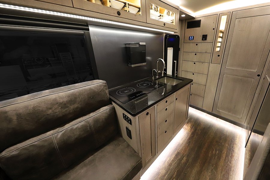 Earthroamer LTI RV kitchen area