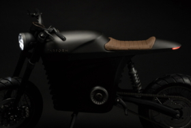 Profile of Tarform electric motorcycle
