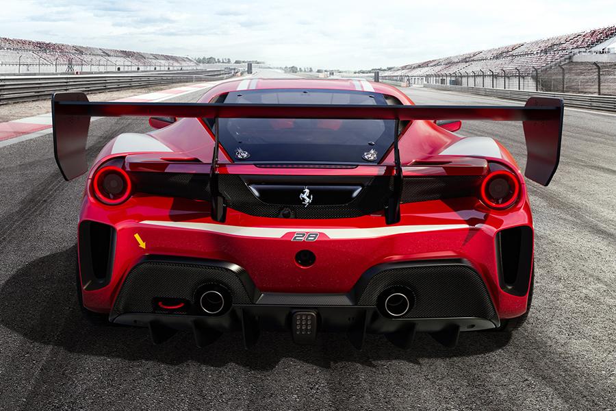 Ferrari 488 Challenge Evo back