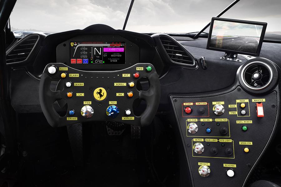 Ferrari 488 Challenge Evo steering wheel