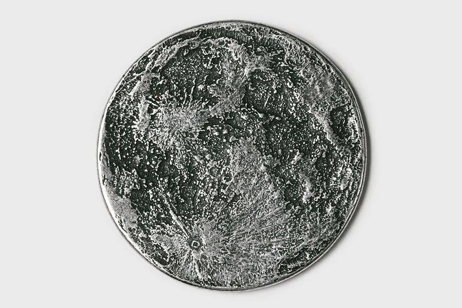 Full moon silver coin back