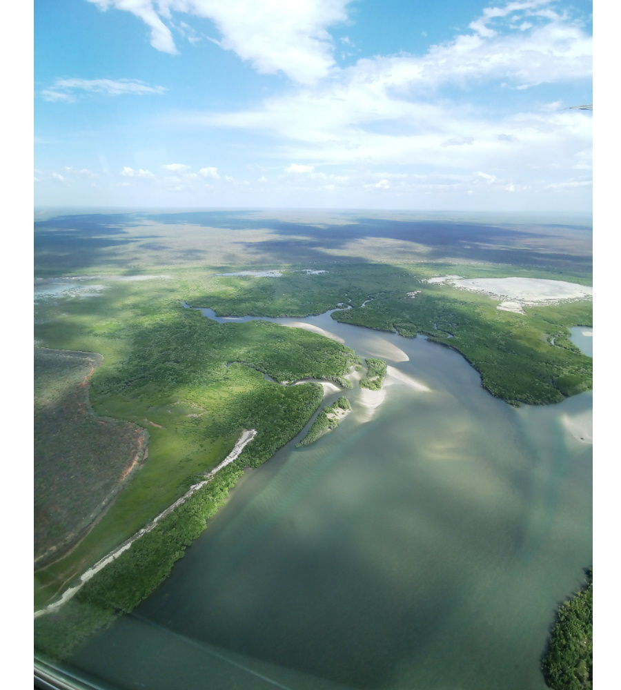 bird's eye view of Broome Western Australia