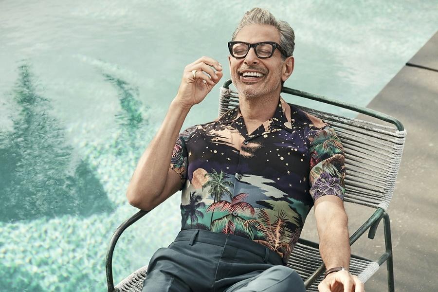 Jeff Goldblum on a recliner