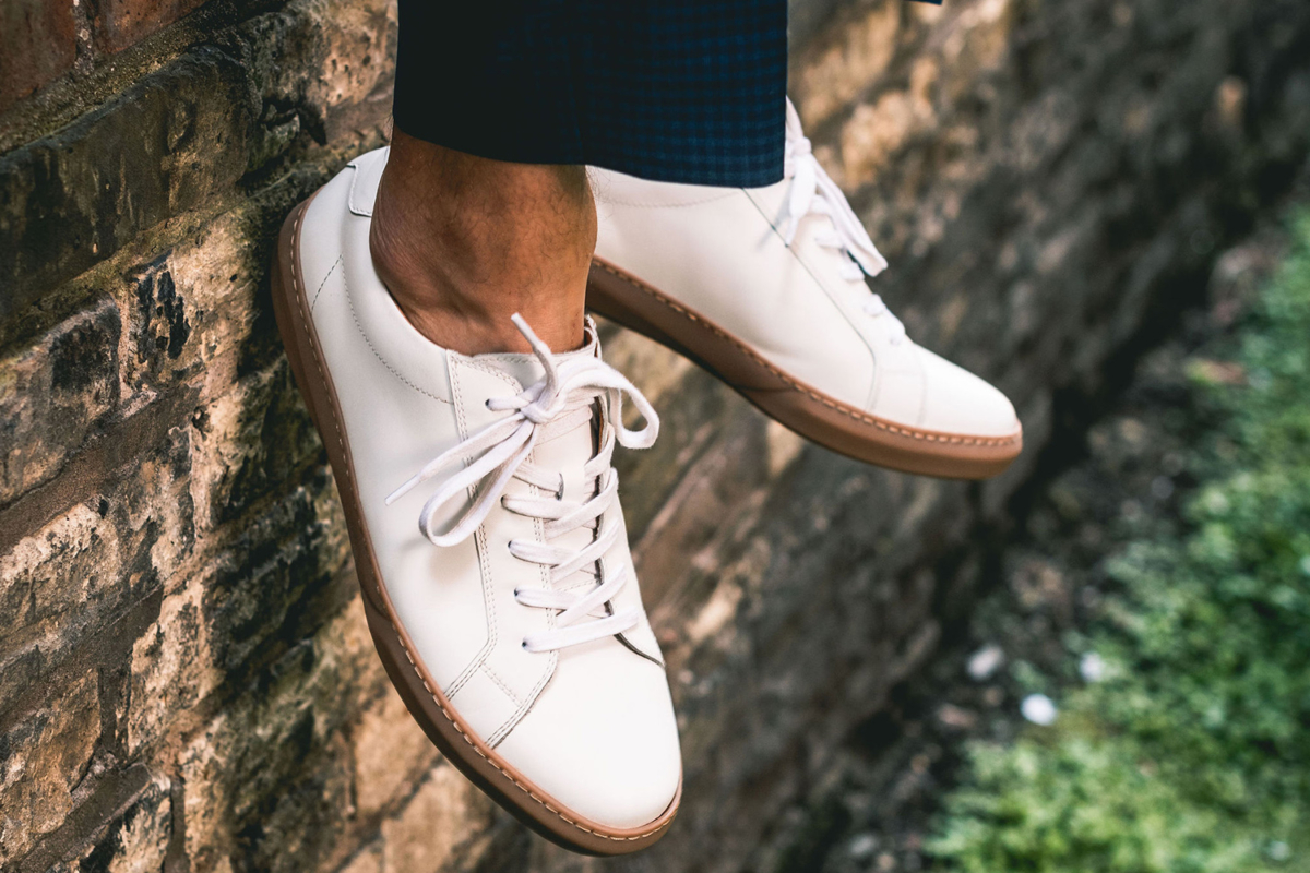 Sole and top of a Moral Code shoe