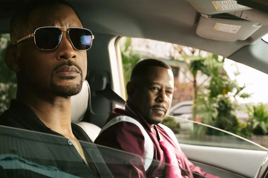 Will Smith and Martin Lawrence in front seats of car from Bad Boys for Life trailer