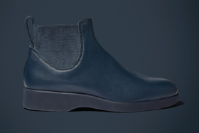 Side of black RM Williams Yard Boot
