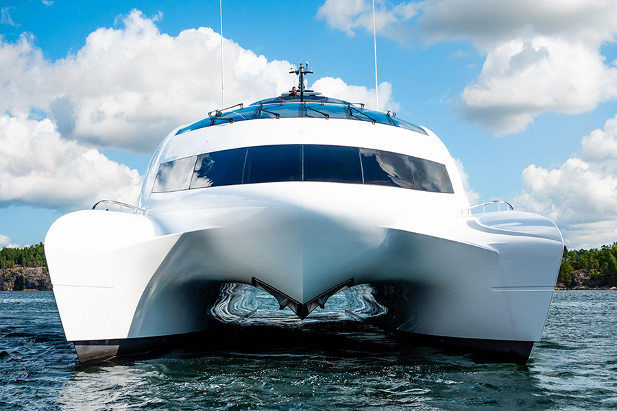 royal falcon luxury yacht front
