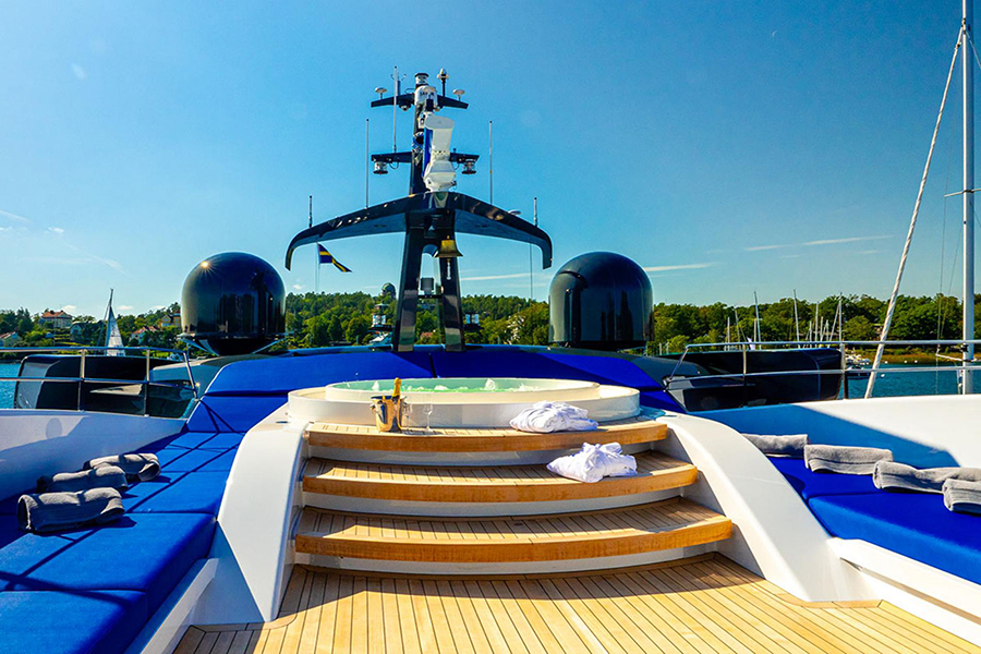 royal falcon luxury yacht view deck