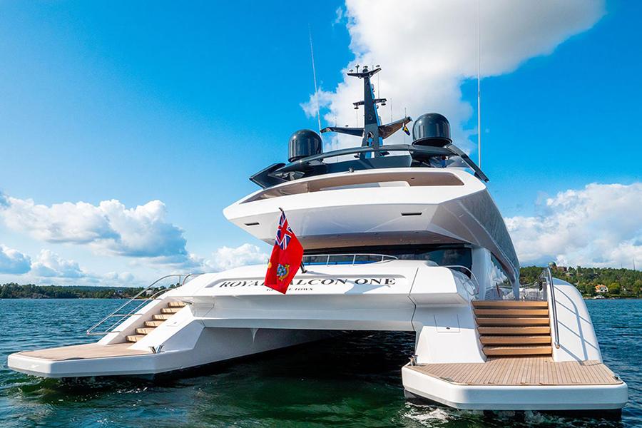 royal falcon luxury yacht back
