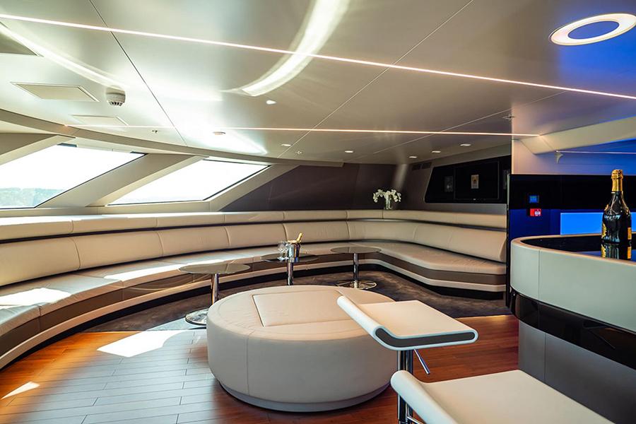 royal falcon luxury yacht lounge