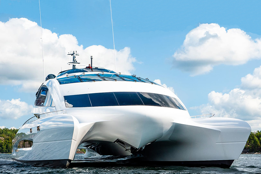 royal falcon luxury yacht side view