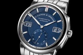 Closeup of the dial ofA. Lange & Söhne Odysseus watch