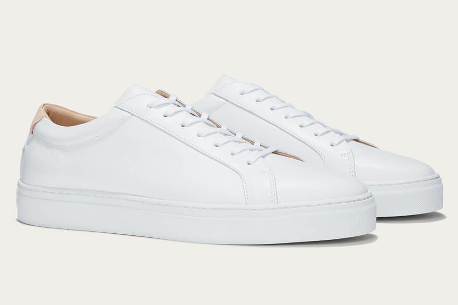White Leather shoes uniform and standard