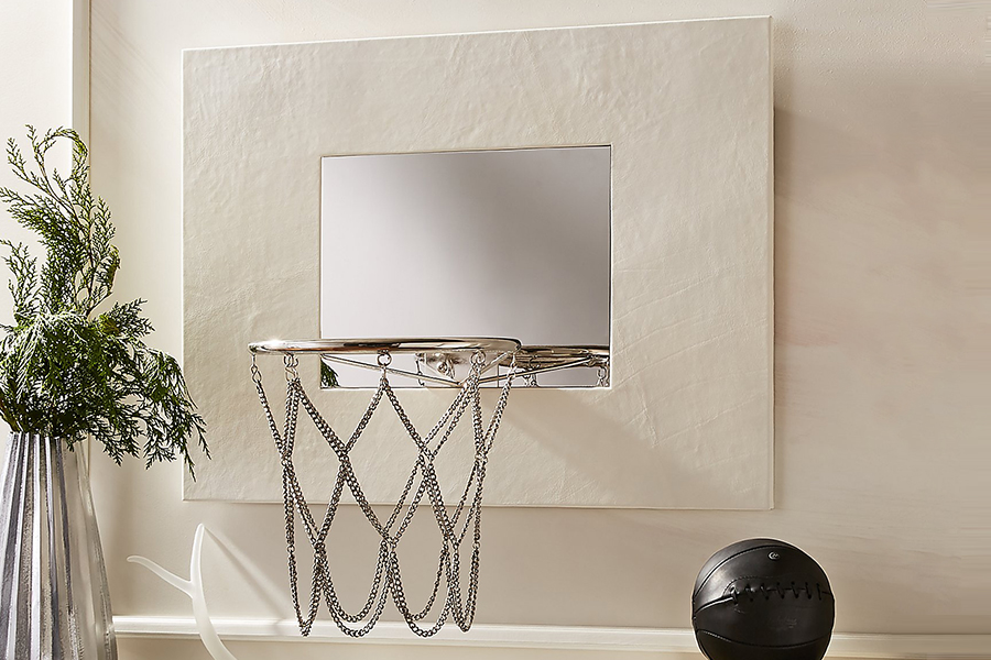 White Mini Basketball Hoop
