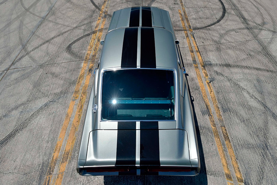 ford mustang eleanor top view