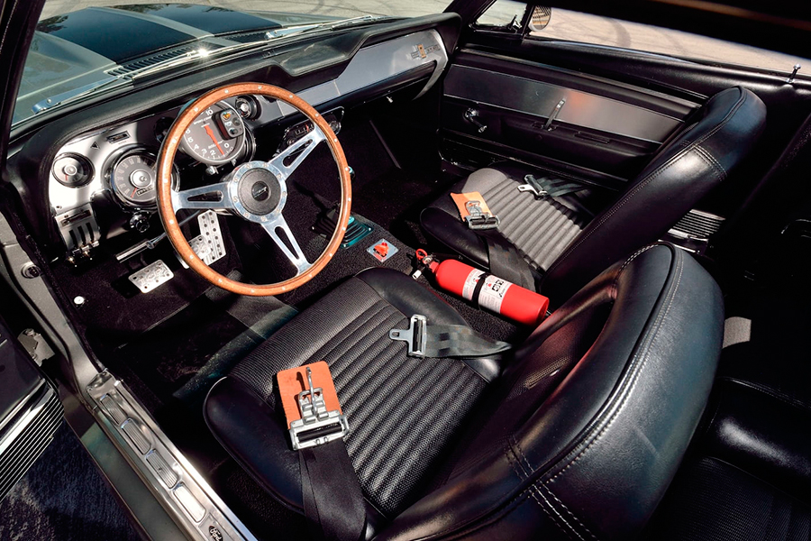 ford mustang eleanor dashboard and steering wheel