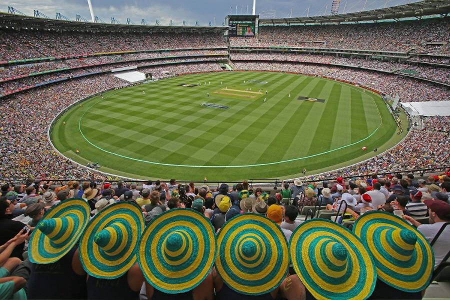 Melbourne Cricket Ground with audience