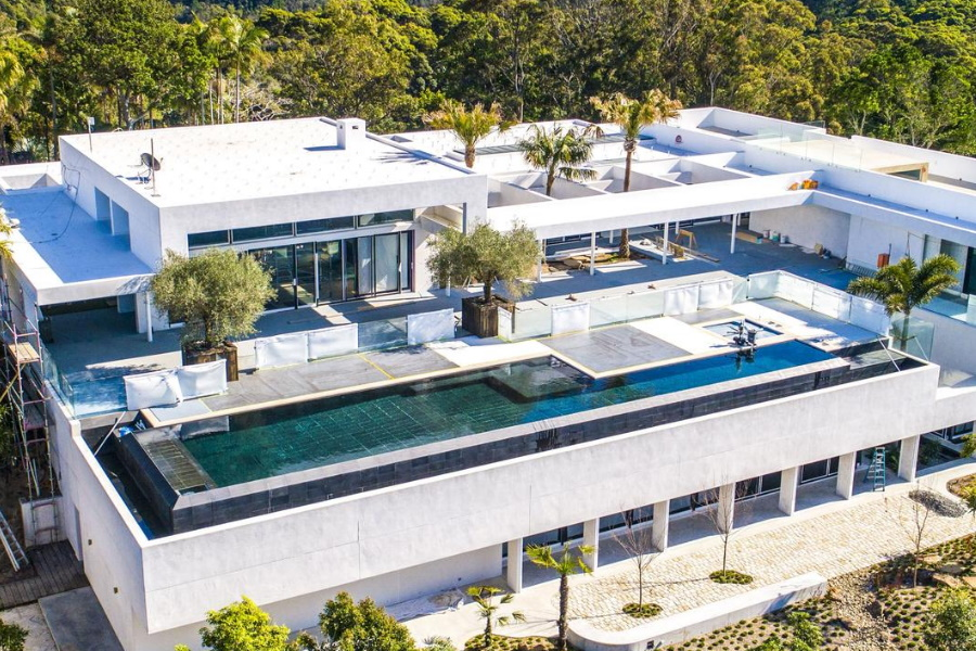 Aerial view of Chris Hemsworth Byron Bay House