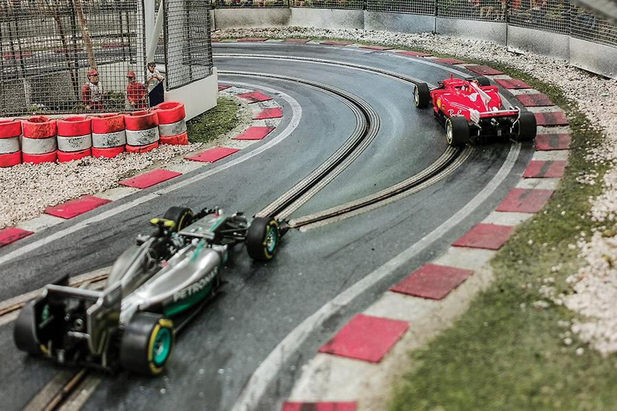 F1 Slot Car racetrack