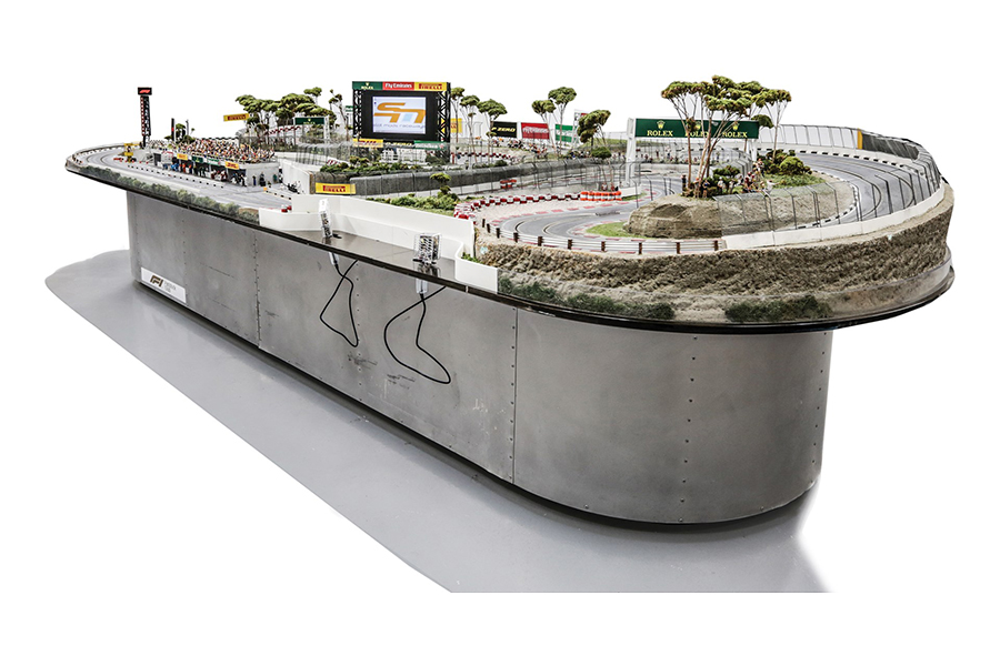 F1 Slot Car Track side view