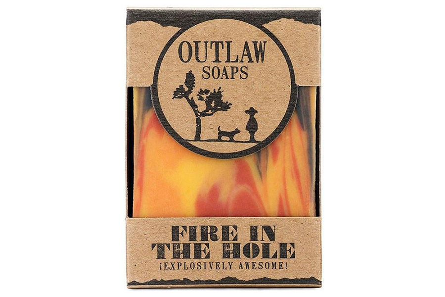 Fire in the Hole Whisky & Gunpowder Scented Soap