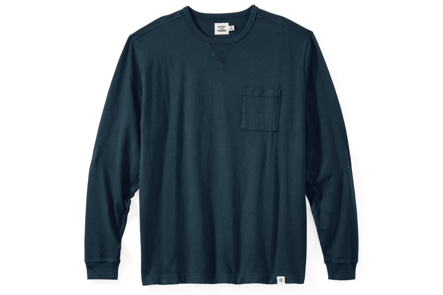 Flint and Tinder Long Sleeve Pocket Tee