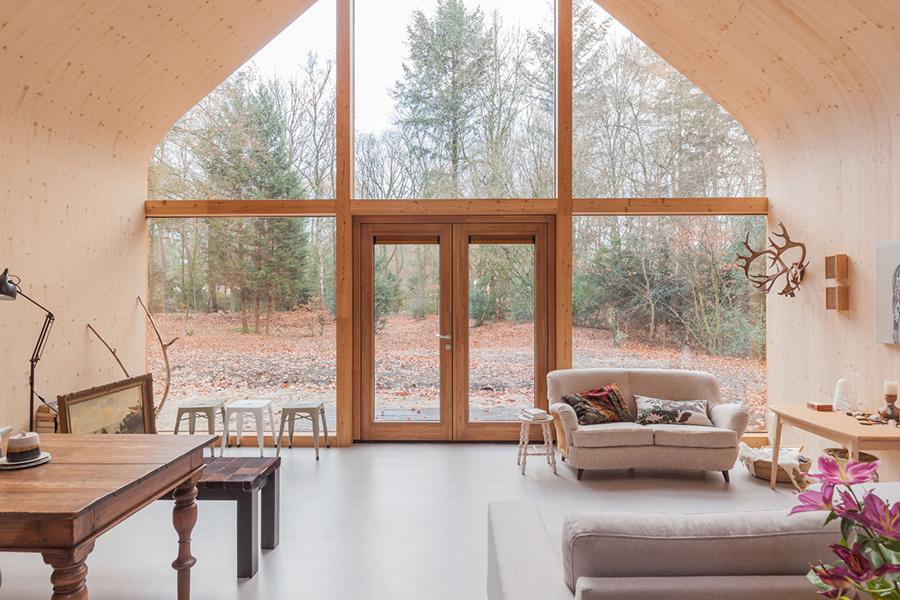 Indigo Cabin glass window