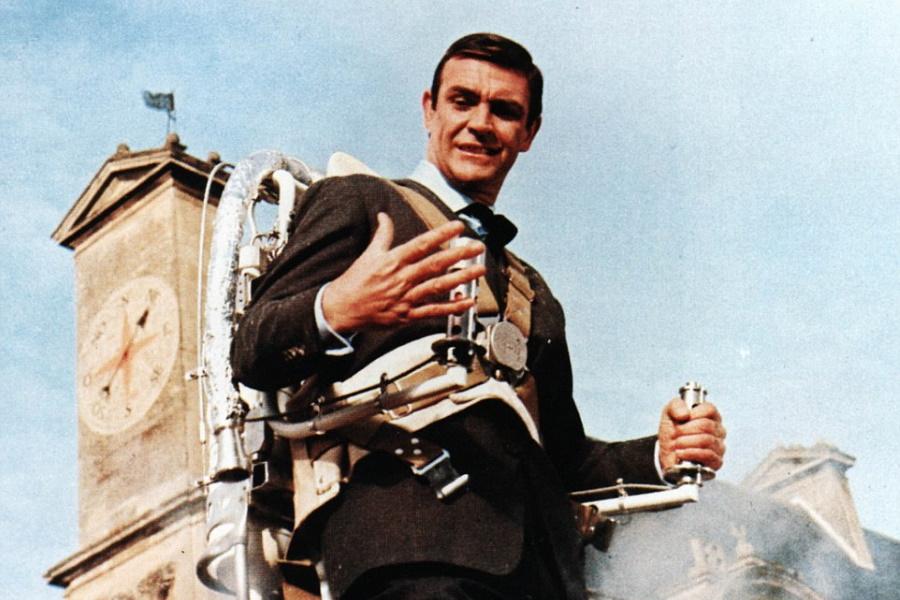 James Bond with a jetpack