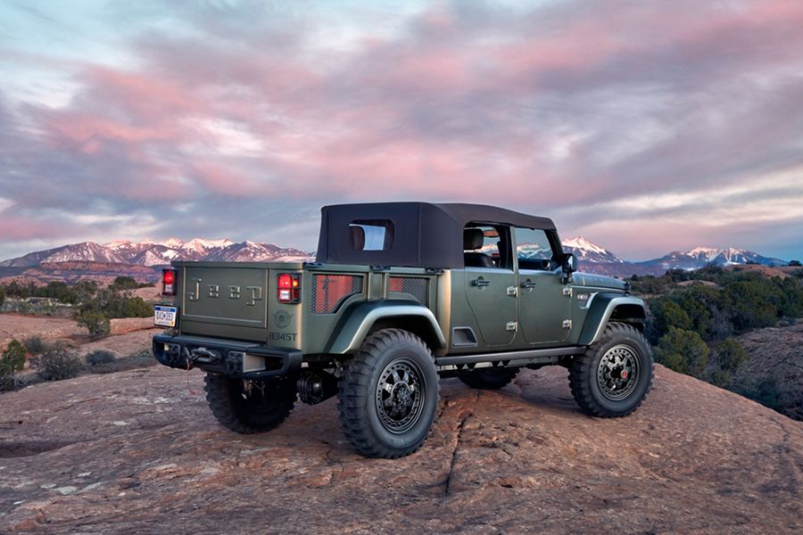 Jeep Crew Chief 715 Concept back view of the vehicle