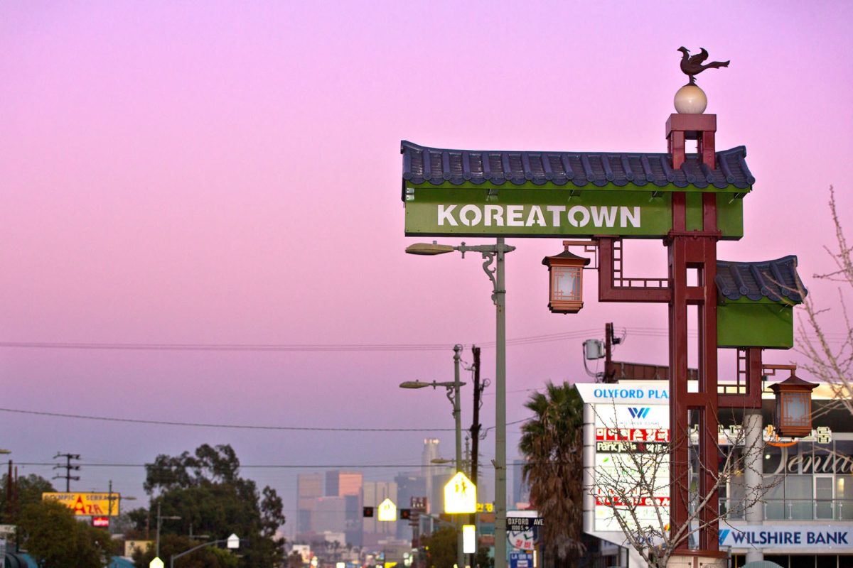 Koreatown roadside sign