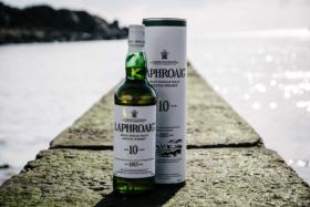 Laphroaig Scotch Whisky bottle and box