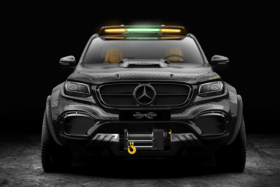 mercedes benz x class exy monster concept vehicle