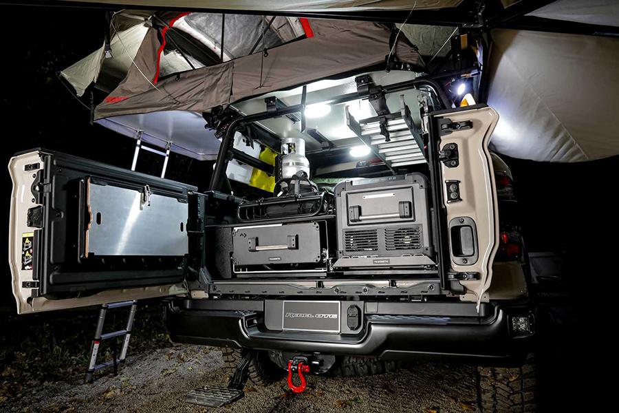 Ram 1500 Rebel OTG Concept back compartment
