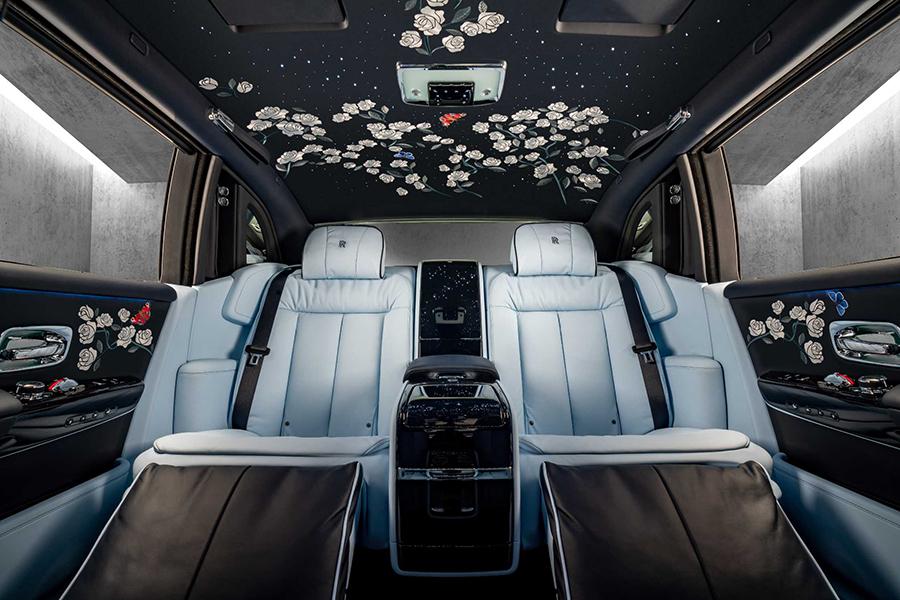 Rolls-Royce million stitch interior design