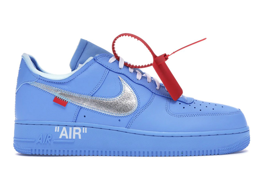 """Off-White x Nike Air Force 1 """"MCA"""" most valuable sneakers"""