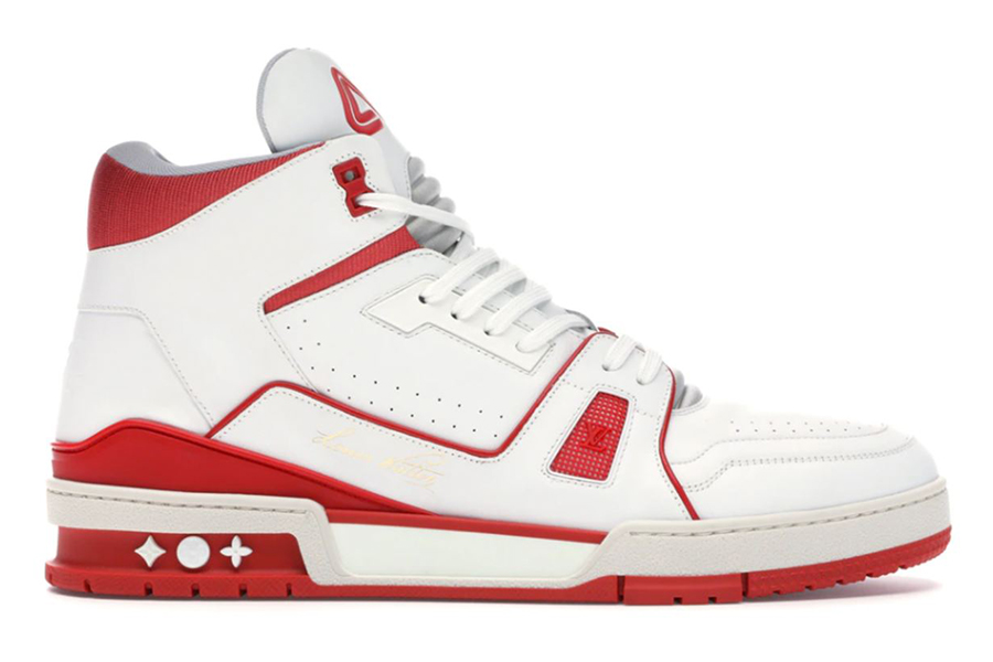 most valuable sneakers Louis Vuitton LV Trainer Sneaker Mid