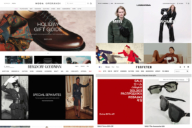 Collage of Luxury shopping sites images