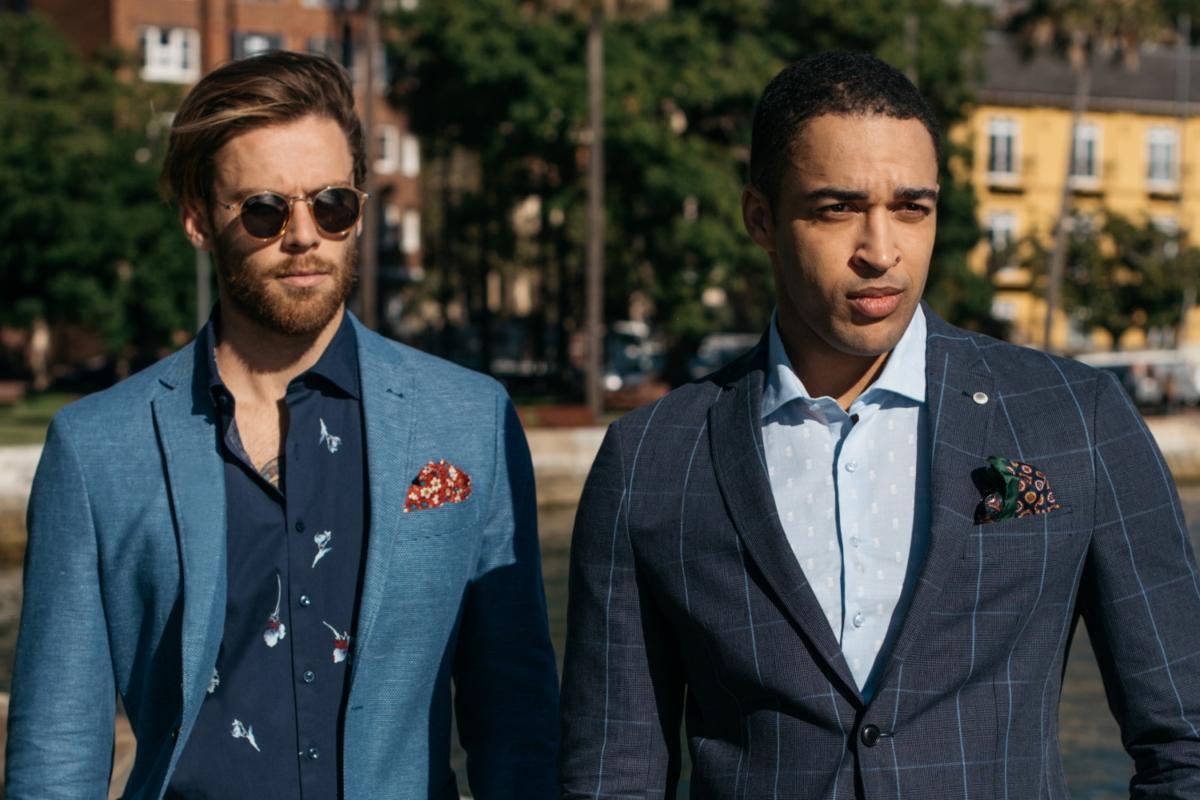 Two models in Van Heusen suits